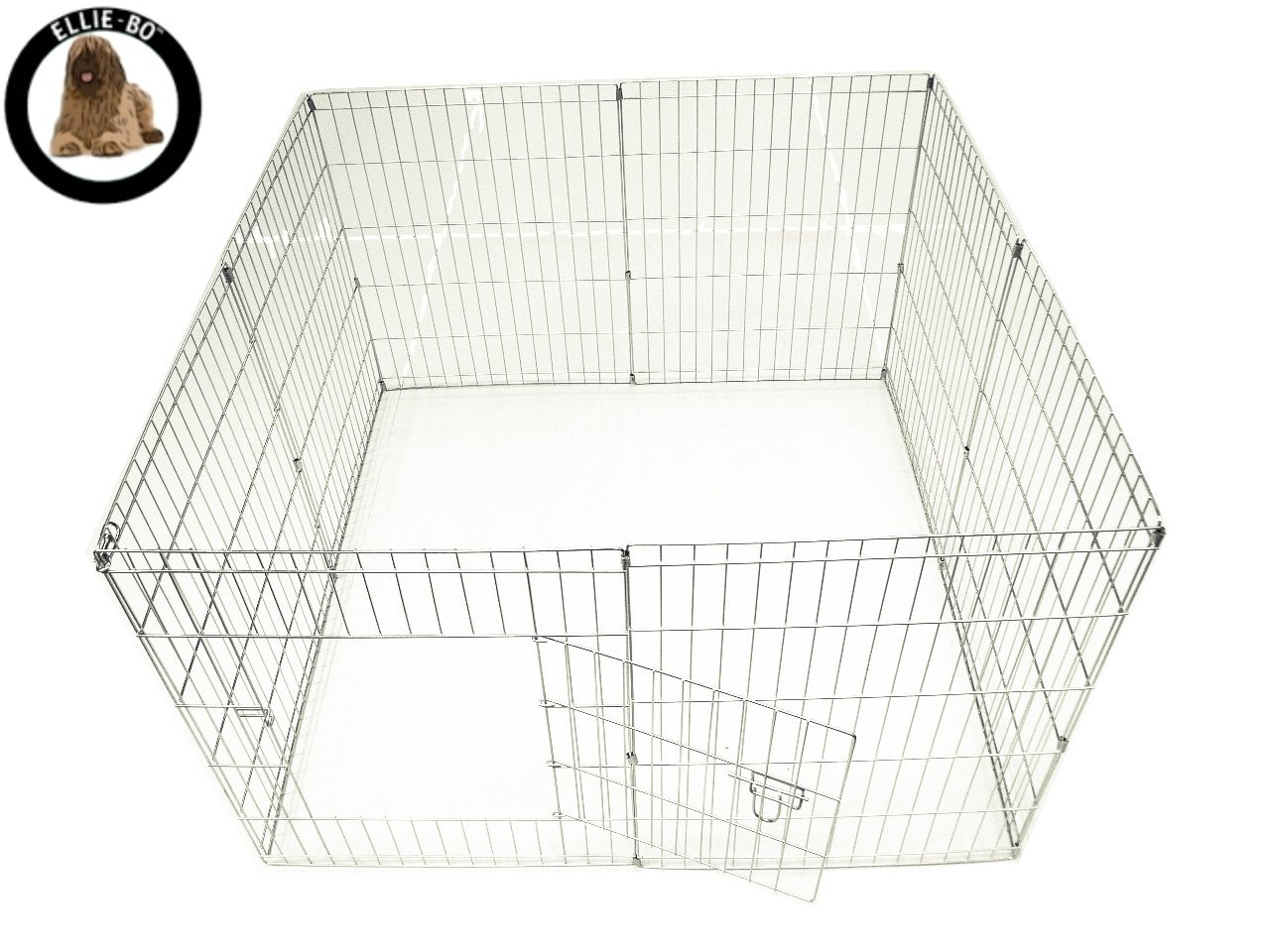 Ellie-Bo Easy-Up Puppy Rabbit Play Pen, 76 cm, Silver, 8 Piece