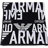Emporio Armani Swimwear Towel all Over Graphic Logo Asciugamano Unisex-Adulto