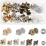 Broches Magnéticos,ZERHOK,30 sets,Cierre magnetico bolso,Broche Imán metálicos para artesanía y amas en hacer bolso manual y