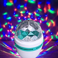 XHAIDEN Plastic Disco Light Mini Party Lamp LED, 3W Effect,Size 2 X 3cm,(9855, Multi-colour)