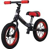 HOMCOM Bicicleta sin Pedales Sillín Regulable 31-45cm Recomendado para niños + 2 Años Rueda de Goma Carga 25kg 65x33x46cm Neg