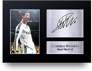 HWC Trading Cristiano Ronaldo Geschenke Unterzeichneten A4 Gedrucktes Autogramm Real Madrid Foto-Anzeige