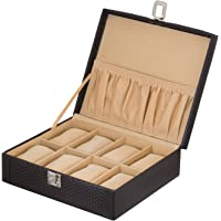 Valley PU Leather Watch Case 8 Slot/Wrist Watch Box/Watch Organizer/Watch Storage Box/Handmade Watch Box with 8 Soft…