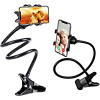LXCN® Universal Metal Lazy Stand Flexible Mobile Stand,Cell Phone Clip Holder Lazy Bracket Heavy Mobile Smartphones…