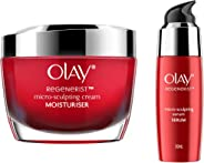 Olay Combo Pack Regenerist Microsculpting (Day Cream, 50 g + Serum, 50 ml)