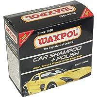 Waxpol Car Shampoo + Polish (Super Concentrate) - 15 ml (Set of 24 Sachets)