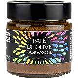 Patè di olive taggiasche Cuvea - 180 g - Solo 3 Ingredienti: olive taggiasche, olio extravergine di oliva, sale - Senza conse