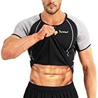 Junlan Men Weight Loss Shirt Workout Neoprene Top Training Body Shaper Clothes Sweat Sauna Suit Exercise Fitness Short…
