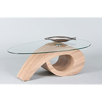 Lifestyle4living Couchtisch Ist Oval Und Aus Glas Sofa Tisch In