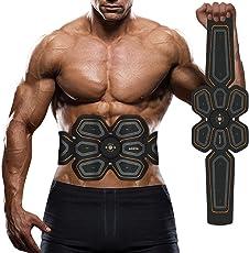 EMS Muskelstimulator, Waitiee Elektronische Bauch Muskeltraining Maschine, Smart Zuhause Muskeltraining Ab EMS Training Für Männer Frauen Gewicht Abnehmen