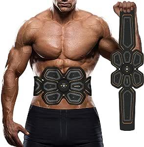 Elektroden am Bauch vor und nach dem Abnehmen