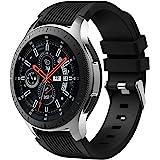 Dirrelo Bracelet Compatible avec Samsung Galaxy Watch 3 45mm/Galaxy Watch 46mm/Huawei GT 2 46mm, 22mm Souple Silicone Sport R