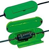Brennenstuhl Safe-Box / beschermdoos voor verlengkabel (beschermende capsule voor kabels, voor gebruik binnenshuis) groen