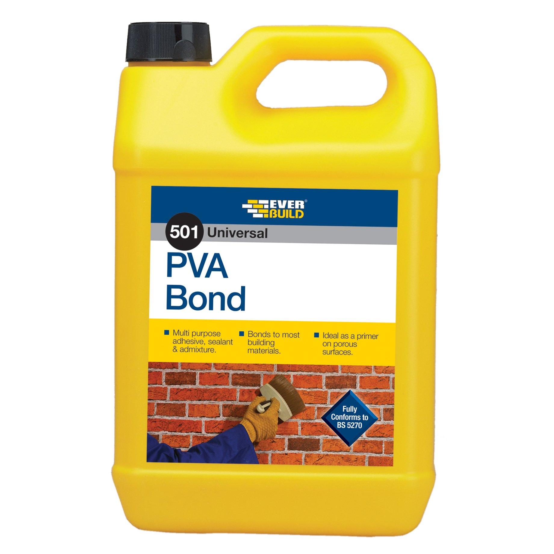 Everbuild PVA5L Colle PVA universelle 5 l