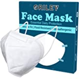 ORILEY Nonwoven Fabric N95 CE & ISO Certified 5 Layer Disposable Face Mask with Nose Pin for Men & Women (1 PC), White