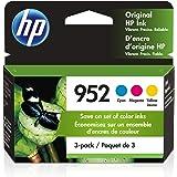 HP 952 | 3 Ink Cartridges | Cyan, Magenta, Yellow | L0S49AN, L0S52AN, L0S55AN