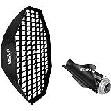 Phot-R Professionelle Octagon Folding Umbrella Softbox Reflektor mit Bowens S-Type Berg Sppedring Photo Studio Strobe…