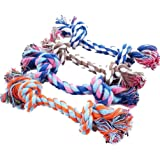 Ruikey Dents molaires corde jouets à mâcher pour chiot chien coton 17 petit