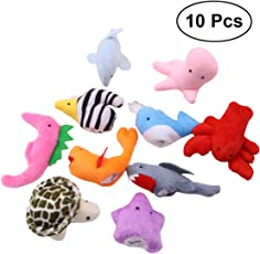 TOYMYTOY 10pcs Sea Animal Finger Puppets Animal Finger Dolls Story Tell Puppets Preschool Education Toys