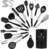 CORAFEI Set Utensili Cucina, 26 Pezzi Utensili da Cucina in Silicone Attrezzi Cucina Resistente al Calore Accessori Cucina In