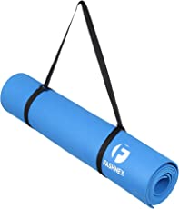 Fashnex Yoga Mat 6mm with Free Carrying Strap for Yoga, Pilates & Workout Exercises for Men & Women