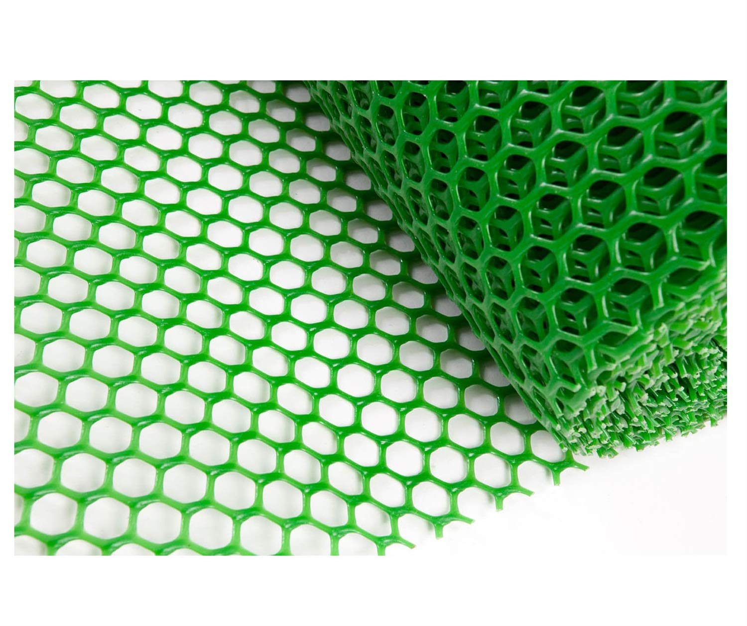 Grass Protection Mesh for Lawn or Car Park Reinforcement Green Plastic Child Safety Net Balcony Protection Net Stairs Anti-fall Net 10m 20m 30m 50m (Size : 2 * 50m) NNFHW ♦ Plastic safety mesh with a diameter of 1.8cm prevents children's head and body from falling through the railing and prevents toys and shoes from falling from the gap between the armrests. It can even be used as a pet safety door. Provide a safe gaming environment for children. ♦ Lawn protective grilles are used to reinforce large areas of flat surfaces, especially parks and lawn areas, slopes and embankments. The turf grid increases the load-bearing capacity of the soil. Effectively prevents the formation of ruts. Suitable for short-term parking, driveways, etc. ♦ Plastic flat net waterproof, wear-resistant, tough, light weight, long service life, non-toxic and tasteless, high transparency. Ideal for interior and exterior of residential buildings such as railings, stairs, cots, hallways, balconies, etc. The honeycomb design does not interfere with your view. 2