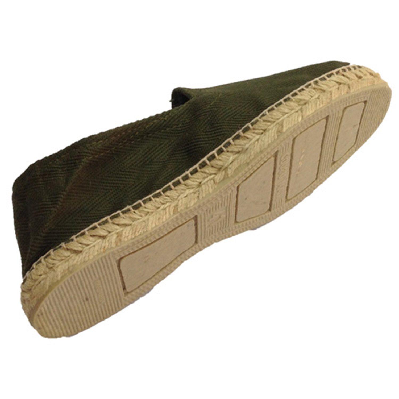 Hanf Sandalen Fischgrätenstoff und Gummisohle unter Made in