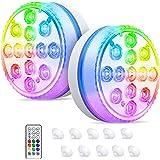 Bigzom Éclairage pour plan d'eau 13 Leds de Piscine Multi-couleur avec Télécommande LumièRes flottant pour piscine,eclairage