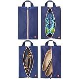 mDesign Set da 4 portascarpe da viaggio – Borse leggere per scarpe in poliestere per la valigia – Versatili sacchetti portasc