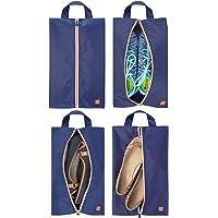 mDesign Set da 4 portascarpe da viaggio – Borse leggere per scarpe in poliestere per la valigia – Versatili sacchetti…