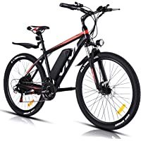 "VIVI Elektrofahrrad Herren 26""/27.5"" Mountainbike mit 350W Motor,Abnehmbare 36V/10.4Ah Batterie /21-Gang-Getriebe…"