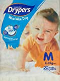 Drypers Wee Wee Dry Medium Sized Diapers (52 Counts)(Taped Diaper)