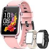 NAIXUES Smartwatch, Reloj Inteligente Mujer IP68 con Pulsómetro, 6 Modos de Deportes, Monitoreo de SpO2 Sueño y Calorías, Cro