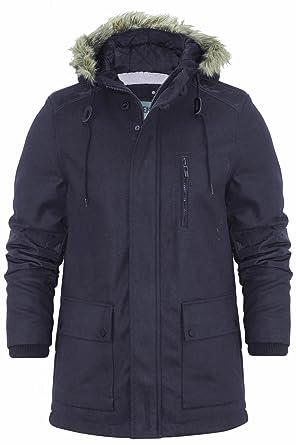 c368072f1 Mens Parka Jacket Dissident Magdala Wool Mix Hooded Fishtail Coat M-XXL