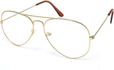 Thewhoop Night Vision Aviator Unisex Eyeglasses Full Rim Spectacle Frame