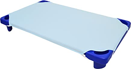 "American Baby Company 100% Cotton Percale  Toddler Day Care Cot Sheet, Blue, 23"" x 40"""