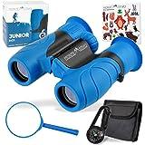 Monte Stivo® Junior | Binocolo per Bambini 8X21 | in Set con Lente di ingrandimento e Bussola | Kit Regalo Giocattoli per Bam