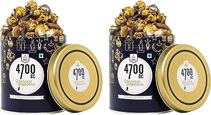 4700BC Mocha Walnut Chocolate Popcorn, Tin, 125g (Pack of 2)