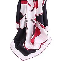 laprée - Sciarpa Donna Seta Sciarpa in Twill di Seta di Alta Qualità 14-Momme Orlato a Mano 90 * 90CM