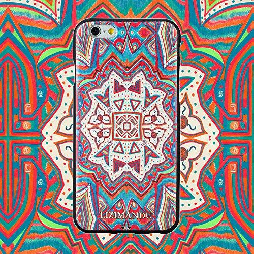 iPhone 6 Cover,iPhone 6s Cover,Lizimandu Creative 3D Schema UltraSlim TPU Copertura Della Cassa Del Custodia Case Tacsa Protettiva Shell per Apple iPhone 6/6s(Fiore Blu/Blue Flower) Maya Totem