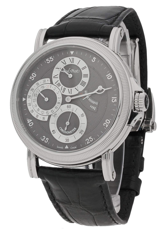 Paul Picot Herren-Armbanduhr Atelier Regulateur Datum Gangreserve-Anzeige Analog Automatik Chronometer P3040.SG.3201