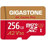 Gigastone 256GB Micro SD Card, 4K Game Pro, Nintendo-Switch Compatible, A2 Run App, 4K Video Recording, R/W up to 100/60MB/s,