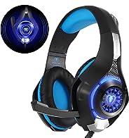 Beexcellent GM-1, Cuffie Gaming con microfono Cuffie da Gioco Bass Stereo per PS4 Auricolari Xbox One con LED Cancellazione d