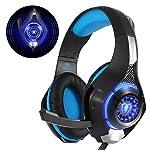 Beexcellent GM-1 - Auriculares Gaming para PS4 PC Nintendo Switch, Cascos Ruido Reducción de Diademas Cerrados...