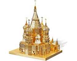 Piececool 3D Metal Model Kits for Adults - Cathedral DIY 3D Metal Jigsaw Puzzle for Adults for Adults