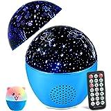 MOSUO Led-sterrenhemel, projectorlamp voor kinderen, muziek, nachtlampje, oceaan, sterrenlichtprojector, USB-oplaadbaar, afst