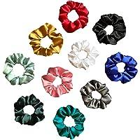 Silvr Bear Luxury Satin Scrunchies Set of 10, Anti-Hair-Breakage, Ponytail Holders for Girls, Women, Hair Ties, Best…