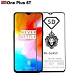 CEDO Full Glue Coverage Edge to Edge Tempered Glass Screen Protector for OnePlus 6T / One Plus 6T (Black)
