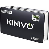 Kinivo - Switch HDMI ad alta velocità con telecomando wireless a infrarossi e presa UK, supporta video in 3D e 1080p