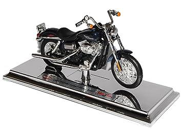 Motorrad 1:18 Harley Davidson 2006 FXDBI Dyna Street Bob schwarz Maisto